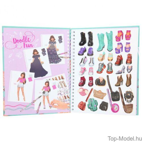 Kép 3/8 - TOPModel Fashion Doddle Könyv Zseléstollal