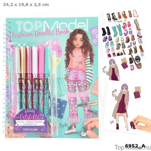 Kép 1/8 - TOPModel Fashion Doddle Könyv Zseléstollal