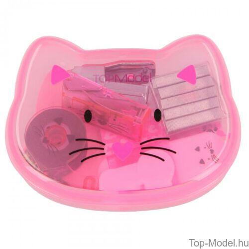 Kép 2/9 - TOPModel mini írószer doboz CAT, világos rózsaszín