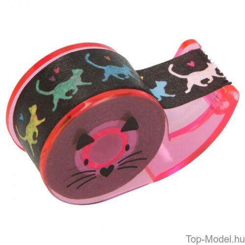 Kép 8/9 - TOPModel mini írószer doboz CAT, világos rózsaszín