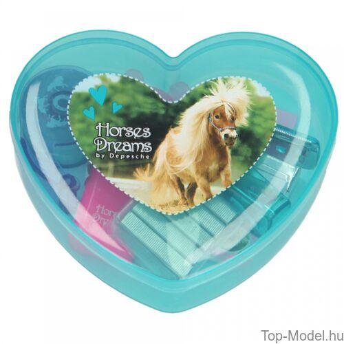 Kép 4/5 - Horses Dreams mini írószerdoboz, kék