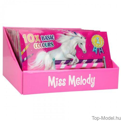 Kép 4/5 - Miss Melody színesceruza készlet 10 db