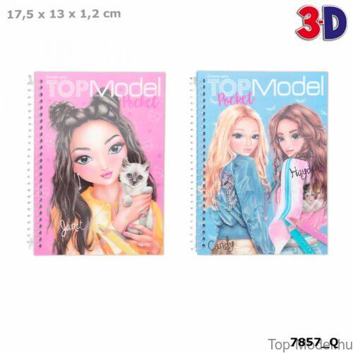 Kép 1/6 - TOPMODEL Zebkifestő 3D-s Előlappal, Rózsaszín