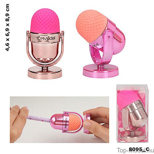 Kép 1/5 - TOPModel mikrofon alakú hegyező, rózsaszín