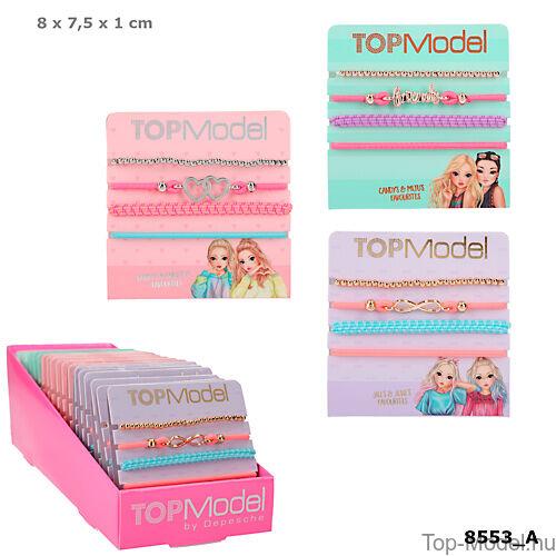 Kép 1/5 - TopModel hajgumi- és karkötőkészlet, rózsaszín