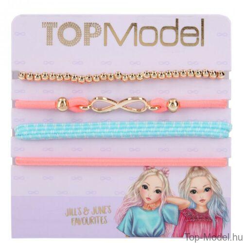 Kép 2/5 - TopModel hajgumi- és karkötőkészlet, rózsaszín