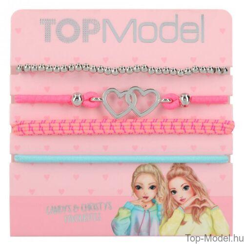 Kép 3/5 - TopModel hajgumi- és karkötőkészlet, rózsaszín