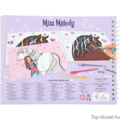 Kép 7/7 - Miss Melody Kifestő Könyv Csillámos Zseléstollal