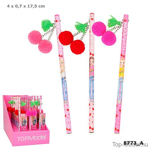 Kép 1/5 - TOPModel ceruza Cherry Bomb, piros
