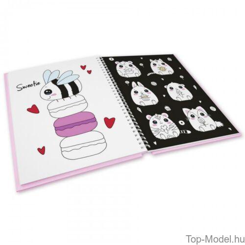Kép 3/7 - TOPModel kifestőkönyv filctollakkal CANDY CAKE
