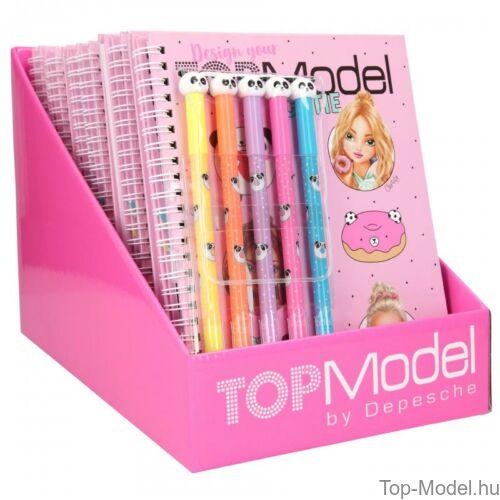 Kép 7/7 - TOPModel kifestőkönyv filctollakkal CANDY CAKE