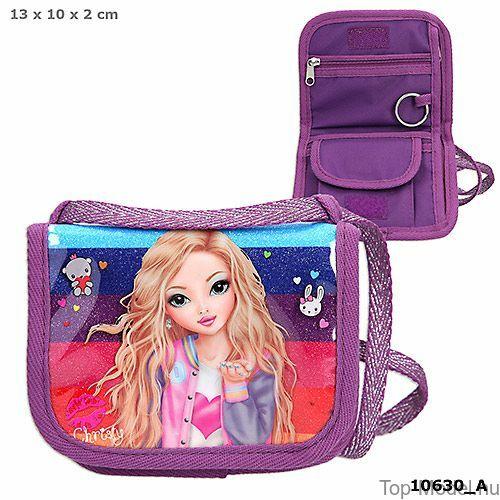 Kép 1/3 - TOPModel Nyakba akasztható pénztárca Friends Purple