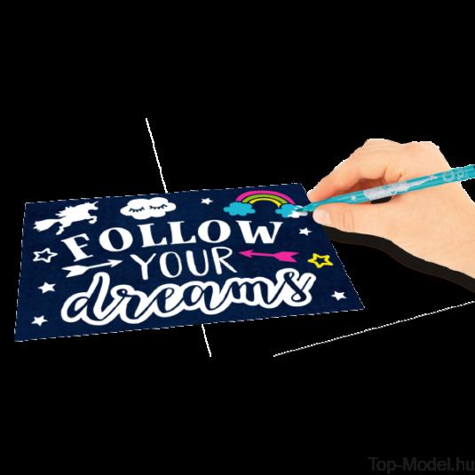 TOPModel Kreatív képeslap színező