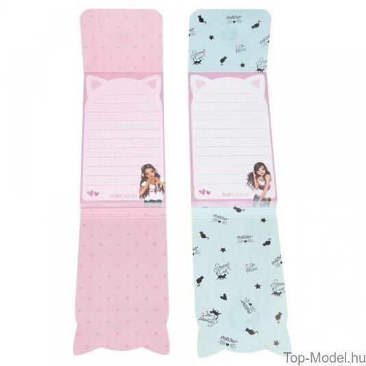 TOPModel mágneses notesz, rózsaszín szőkelány
