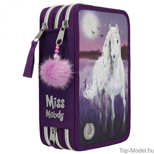 Miss Melody 3 emeletes töltött tolltartó Lila