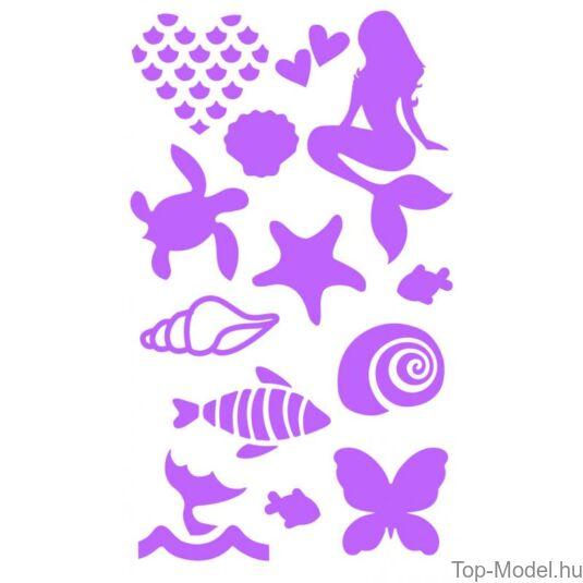 Fantasy Model csillámtetováló készlet mermaid