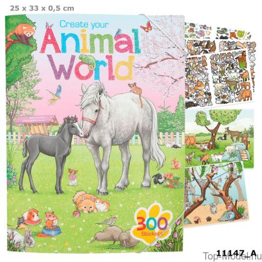 Animal Word Kreatív Matricás Tervező