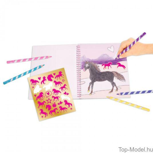 Miss Melody kifestőkönyv visszafordítható flitterrel