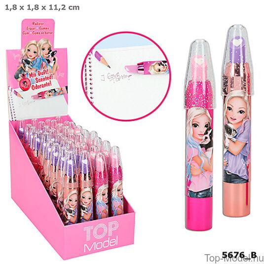 TopModel szájfény alakú radír, rózsaszín