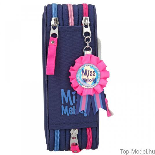 Miss Melody 3 emeletes töltött tolltartó Blue