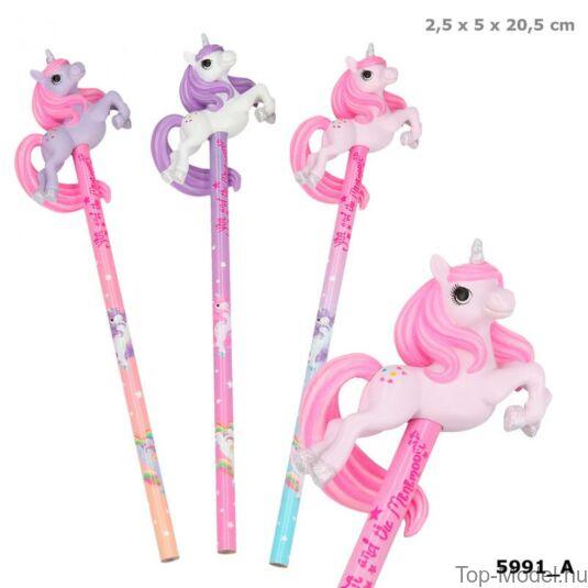 Ylvi & Minimoomis ceruza unikornissal, lila és rózsaszín