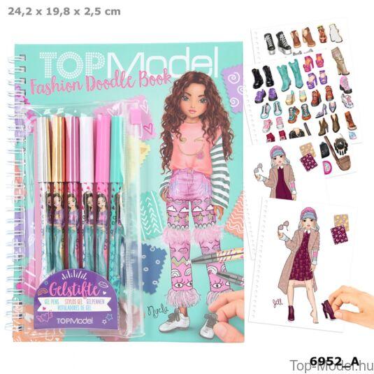 TOPModel Fashion Doddle Könyv Zseléstollal