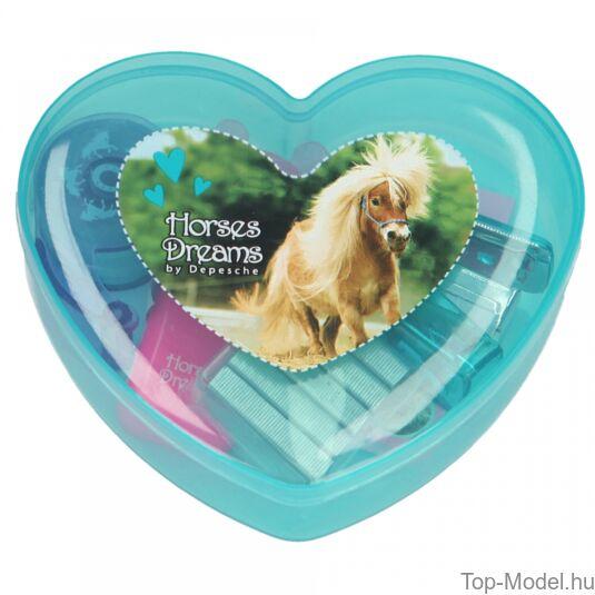Horses Dreams mini írószerdoboz, kék