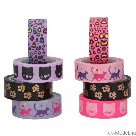 TOPModel Dekor ragasztó szalag CAT, pink