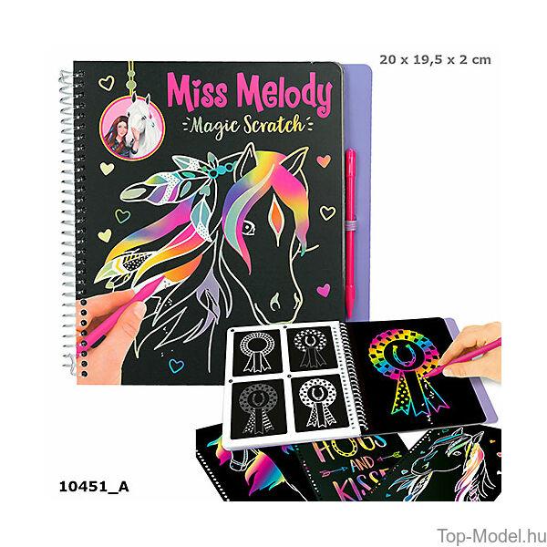 Miss Melody Mágikus karcolós tervező lovas