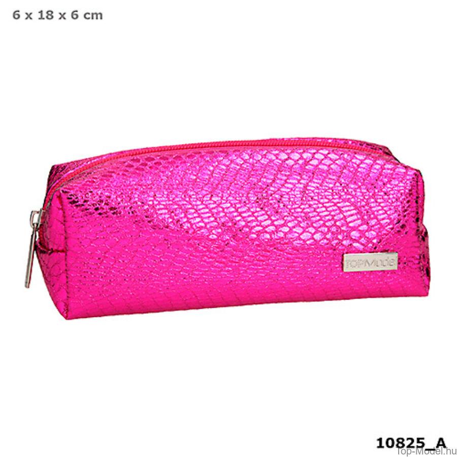 TOPModel hengertolltartó kígyóbőr mintás pink