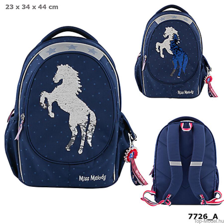 Miss Melody iskolai hátizsák BLUE